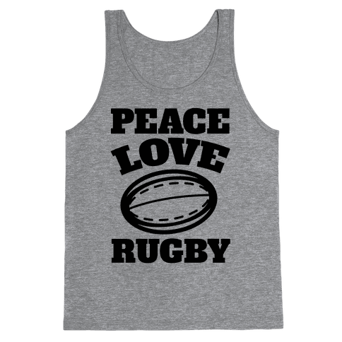 Peace Love Rugby Tank Top