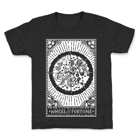 Pizza Wheel of Fortune Tarot Card Kids T-Shirt
