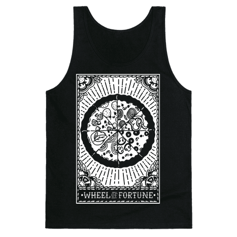 Pizza Wheel of Fortune Tarot Card Tank Top