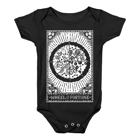 Pizza Wheel of Fortune Tarot Card Baby Onesy