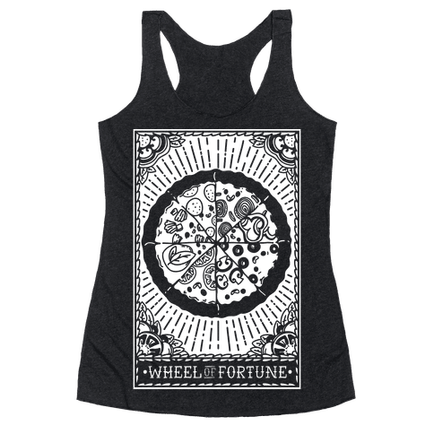 Pizza Wheel of Fortune Tarot Card Racerback Tank Top