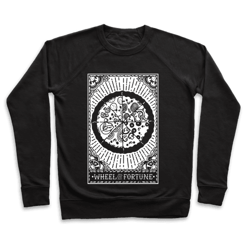 Pizza Wheel of Fortune Tarot Card Pullover