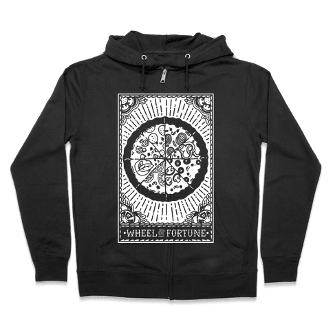 Pizza Wheel of Fortune Tarot Card Zip Hoodie