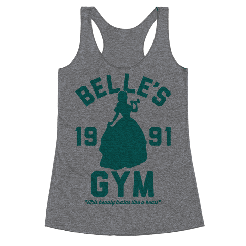 Belle's Gym Racerback Tank Top