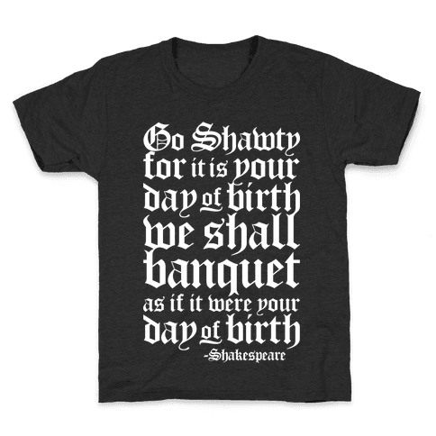 Shakespeare Party Kids T-Shirt