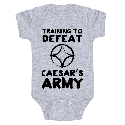 Training to Defeat Caesar's Army Baby Onesy
