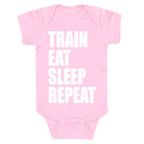 Train Eat Sleep Repeat Baby Onesy