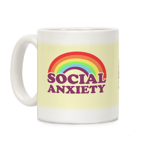 Social Anxiety Rainbow Coffee Mug