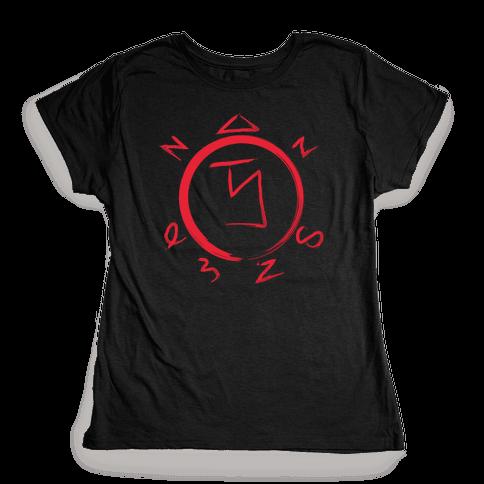 Angel Banishing Sigil Womens T-Shirt