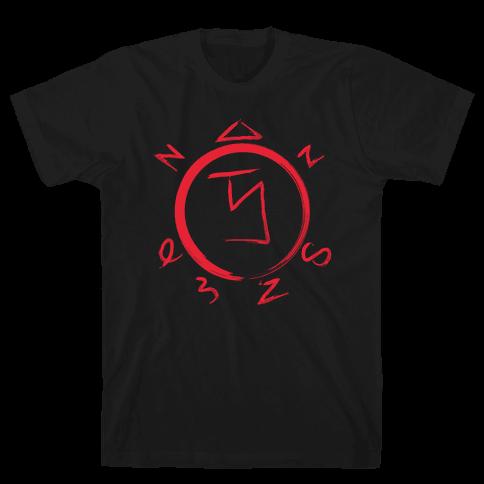 Angel Banishing Sigil Mens T-Shirt