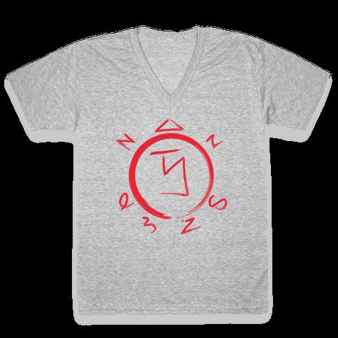 Angel Banishing Sigil V-Neck Tee Shirt