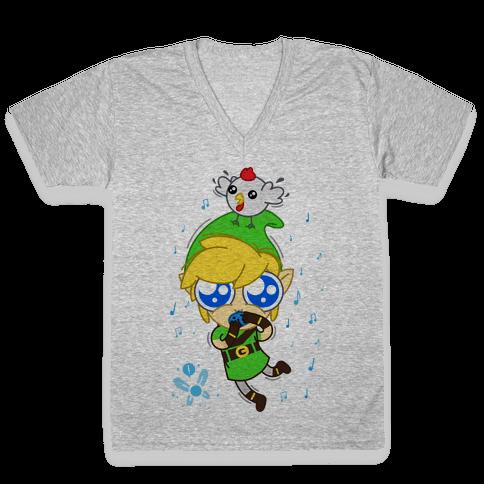Chibi Link V-Neck Tee Shirt