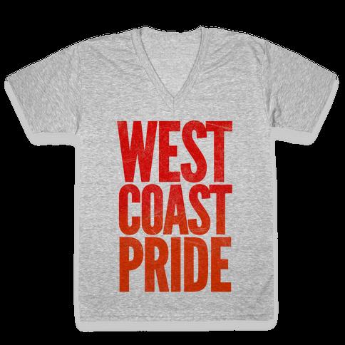 West Coast Pride V-Neck Tee Shirt