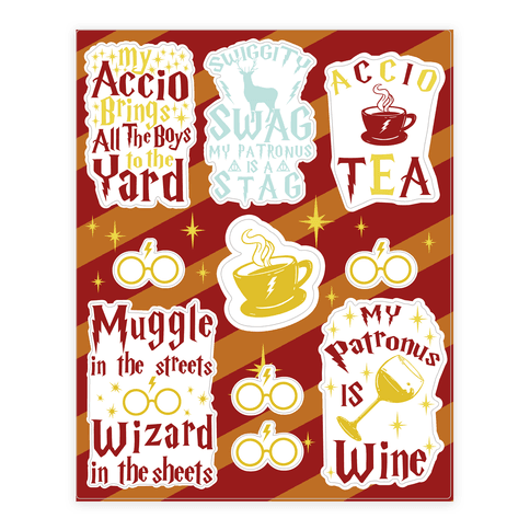Wizard Problems  Sticker/Decal Sheet