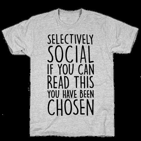 Selectively Social Mens T-Shirt