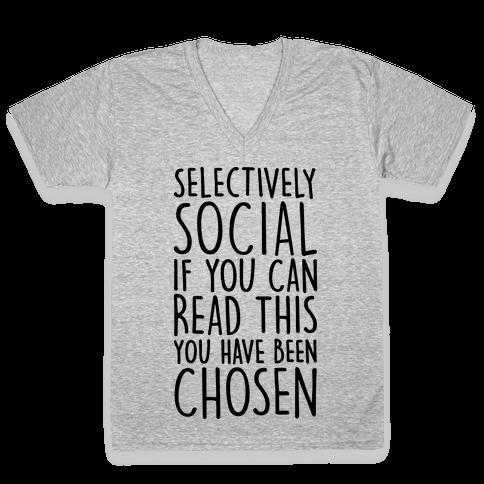 Selectively Social V-Neck Tee Shirt