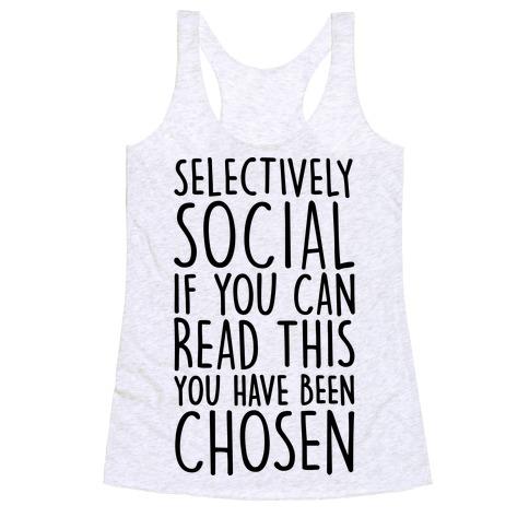 Selectively Social Racerback Tank Top