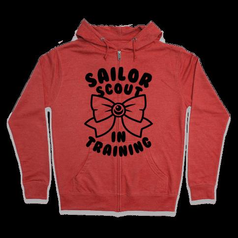 Sailor Scout In Training Zip Hoodie