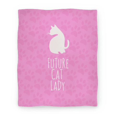 Future Cat Lady Blanket