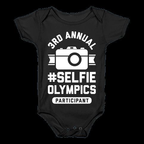 Selfie Olympics Baby Onesy