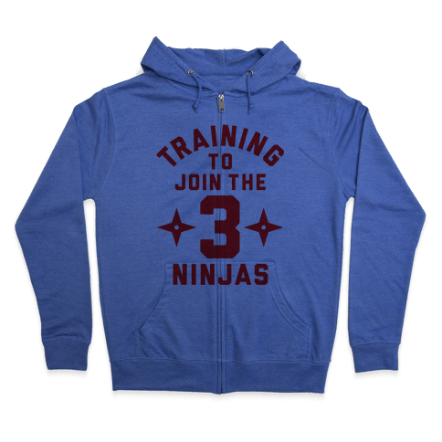 Training To Join The 3 Ninjas Zip Hoodie