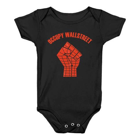 Occupy Wallstreet  Baby Onesy