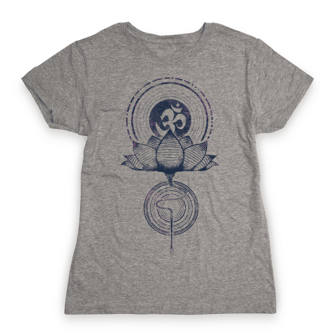 Aum and Lotus Womens T-Shirt