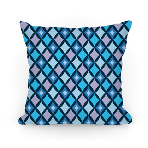 Diamond Pattern Pillow (Blue) Pillow