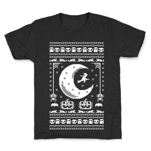 Ugly Halloween Sweater Kids T-Shirt