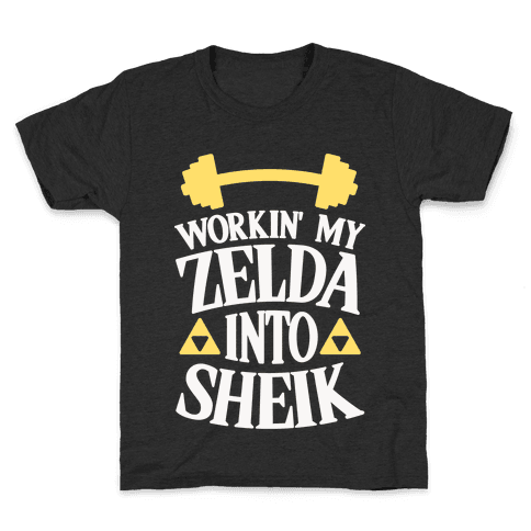 Workin' My Zelda Into Sheik Kids T-Shirt