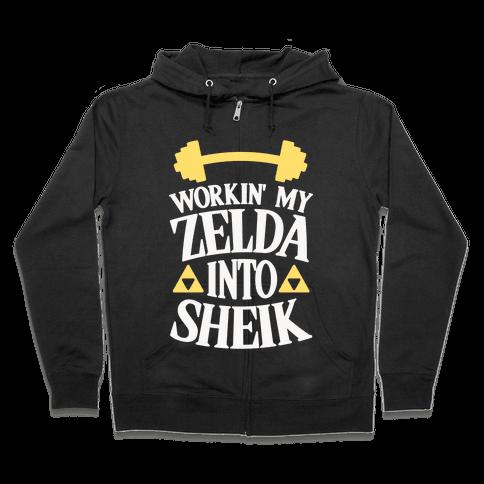 Workin' My Zelda Into Sheik Zip Hoodie