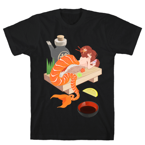 Mermaid Sushi Mens T-Shirt