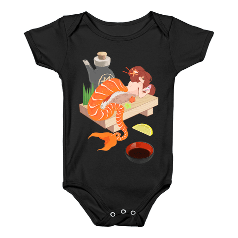 Mermaid Sushi Baby Onesy