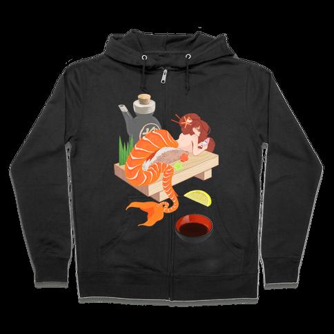Mermaid Sushi Zip Hoodie