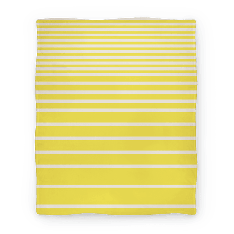 Yellow Stripe Blanket Blanket