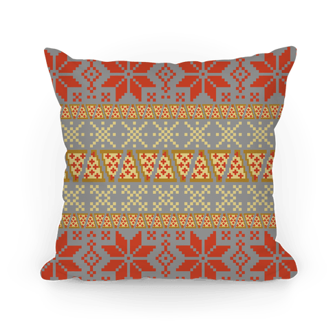 Pizza Sweater Pattern Pillow