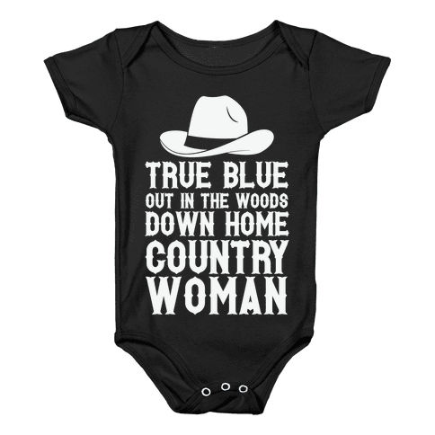 True Blue Country Woman Baby Onesy