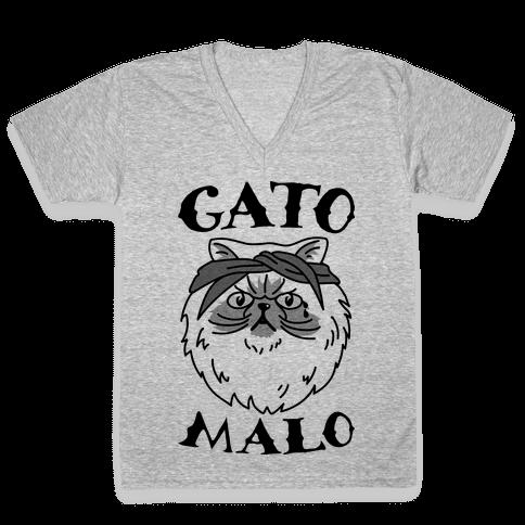 Gato Malo V-Neck Tee Shirt