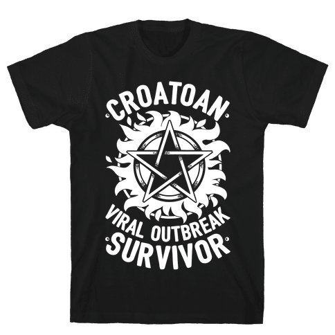 Croatoan Virus Outbreak Survivor Mens T-Shirt