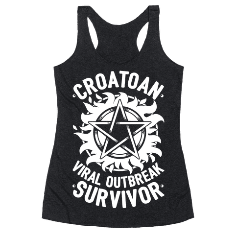 Croatoan Virus Outbreak Survivor Racerback Tank Top