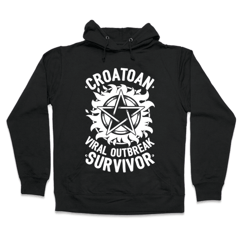 Croatoan Virus Outbreak Survivor Hooded Sweatshirt