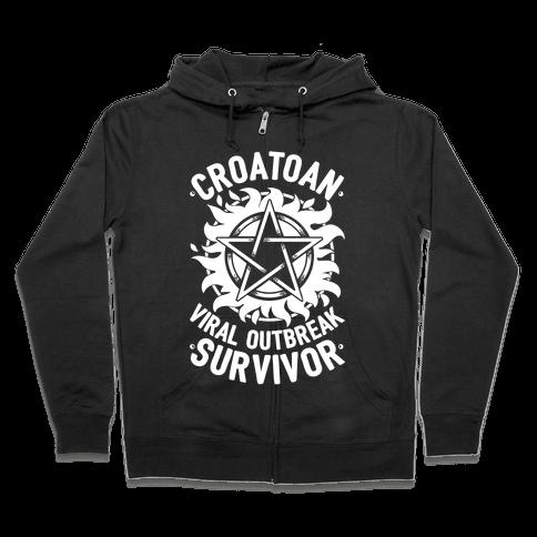 Croatoan Virus Outbreak Survivor Zip Hoodie