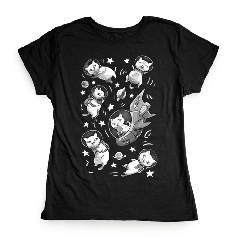 Cats In Space Womens T-Shirt