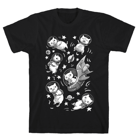 Cats In Space Mens T-Shirt