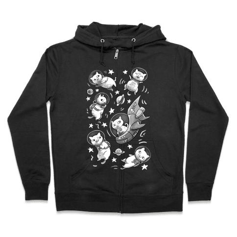 Cats In Space Zip Hoodie
