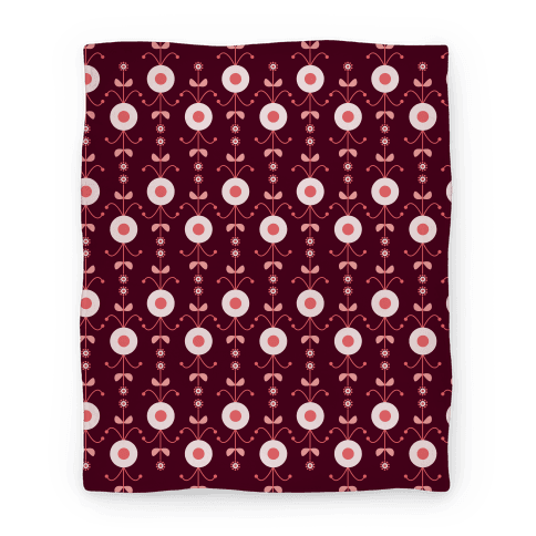 Retro Flower Pattern Blanket Blanket