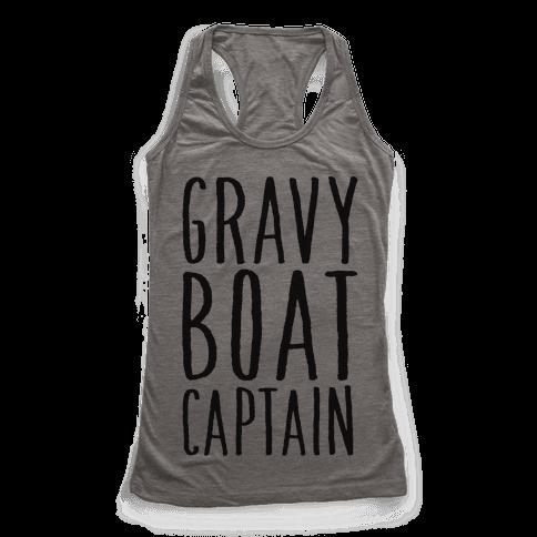 Gravy Boat Captain Racerback Tank Top
