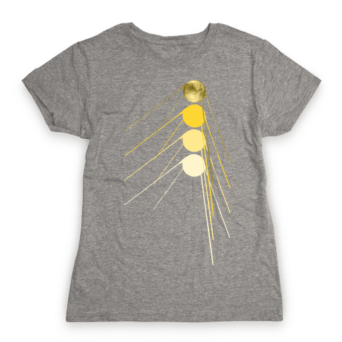 Sputnik Gold Womens T-Shirt