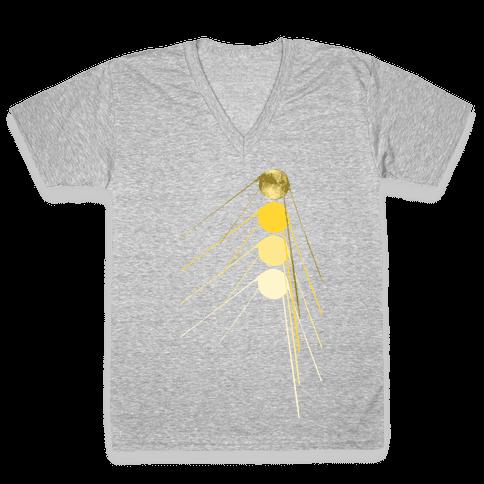 Sputnik Gold V-Neck Tee Shirt