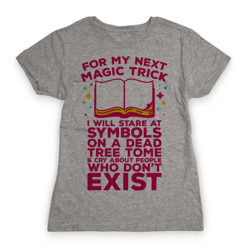Book Magic Trick Womens T-Shirt